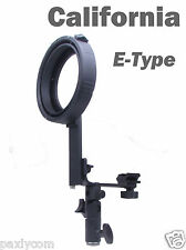 E Type Speedlite Softbox E Bracket Adapter Holder f Bowens Mount Hot Shoe Flash