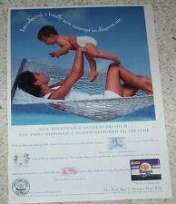 1996 ad page - Pampers Premium Diapers CUTE baby Procter & Gamble diaper ADVERT