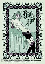 Tara McPherson High On Fire 2006 Silkscreen Concert Poster Mint Nude Signed Mint