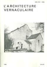 L'ARCHITECTURE VERNACULAIRE 1988 t XII + SORGES + PERIGORD + PONCEY SUR L'IGNON