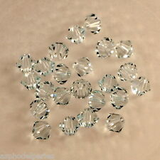 20 perles  toupies en cristal de Swarovski  5328 Light Azor 4 mm