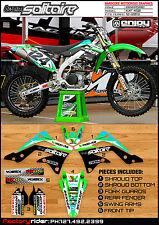 2012-2014 KAWASAKI KXF 450 TEAM SOLITAIRE  Motocross Graphics Kit Blue