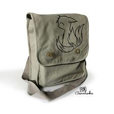Cute Fox Bag crossbody messenger bag canvas tablet bag kawaii anime kitsune emo