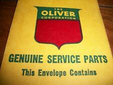 old vintage OLIVER Corp. farm equipment Genuine Service Parts envelope, tractor