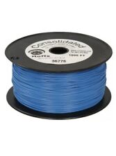 22 AWG Blue Solid Tinned-Copper Hook-Up Wire 900 Feet (FREE Wire Cutter)