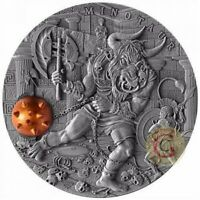 MINOTAUR Ancient Myths 2 Oz Silver Coin 5$ Niue 2017