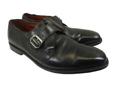Allen Edmonds BOSTON Black Leather MONK Strap Dress Shoes 12 M