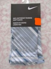 Nike Lightweight Running Swift Sleeve Size L/Xl Wolf Grey/White Pair New