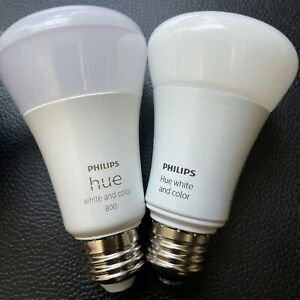 Philips Hue Smart Light A19 Bulbs - 10W, Multicolor, Pack of 2