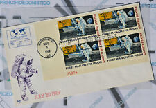 Carta 20 Julio 1969 4 Sellos 10 Cent USA , First Set Foot Upon The Moon