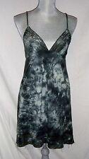 Billabong Women's Dress Sundress Med NEW Green Tie Dye Embroidered Detailing