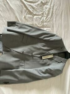 NWT BOGLIOLI REGENT SUIT 100 WV 50 6R 40 EXTREMELY THIN PRINCE OF WALES