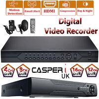 4/8/16/32 Channel 1080P 2MP DVR CCTV AHD Video Recorder Network Cloud P2P HDMI