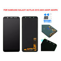 Black LCD Display Touch Screen Digitizer Assembly For Samsung Galaxy A6 Plus