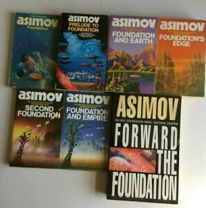ISAAC ASIMOV BOOK BUNDLE, INCLUDING 7 X FOUNDATION PAPERBACKS (SEE LIST).