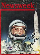John Glenn signed original 1962 Newsweek magazine cover / autograph PSA/DNA COA