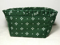 LONGABERGER Fabric Liner Only for Tea Basket Heritage Green EUC No Bag