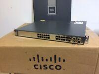 CISCO WS-C3750G-24PS-S 24-Port Gigabit POE Switch 3750G-24PS-E 15.0-tar ios CCNA