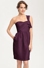 NWT! Jenny Yoo Convertible Shantung Dress Eggplant Purple Red Size 0 #D96