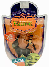 Shrek 2006 Dreamworks Puss In Boots & Donkey Dueling Duo Posable Figures Rare