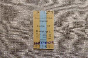 Fahrkarte AT Bregenz - Lindau (1975) (P12)