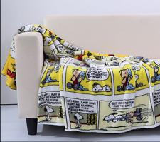 Berkshire Blanket Throw Blanket Peanuts Charlie Brown Snoopy Comics 55 x 70 NWT