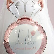 Party Supplies Wedding Decorations Engagement I Do Pink Ring Shape Foil Balloon