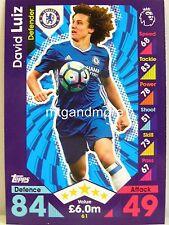 Match Attax 2016/17 Premier League - #061 David Luiz - Chelsea FC