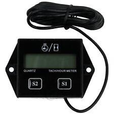 Spark Plugs Engine Digital Tach Hour Meter Gauge Tachometer Motorcycle Bike MY