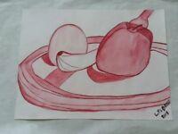 Watercolor Art Paint 'Fruit' by L. Pedroso
