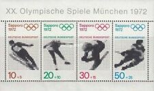 sheet Summer and Winter Olympic Games - Sapporo, Japan & Munich, Germany 1972