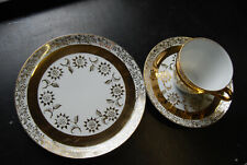 Vintage 1960's Gold Crown Fine China Trio Cup Saucer & Plate Made Japan