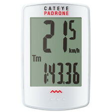CatEye Padrone Wireless Cycle Computer with Stopwatch - White