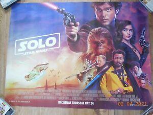 "Solo, A Star Wars Story ~ Purple ~ Original UK Quad Cinema Poster ~ 40"" x 30"