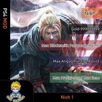 Nioh(PS4 Mod)-Max Level/Gold/Proficiency/Proficiency/Points