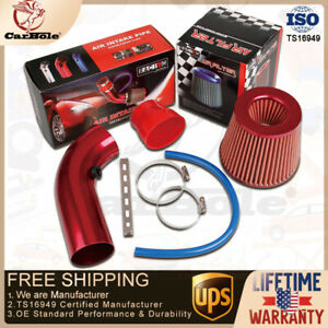 Car Cold Air Intake Filter Induction Kit Pipe Power Flow Hose Aluminum Universal