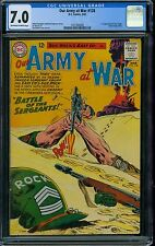 Our Army at War 128 CGC 7.0 - OW/W Pages - Sgt Rock Origin