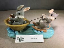 """Fitz & Floyd Charming Tails Figurine """"A Day At Lake"""" #83/803 With Box"""
