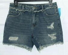 C&V Chelsea & Violet jrs medium wash destroyed jean shorts size 27 NWT