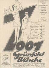 Y6331 Grunfeld Wasche - Pubblicità d'epoca - 1925 Old advertising