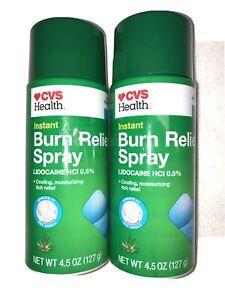 CVS Lot Of 2 Burn Relief Spray Aloe Sunburn Itch Bites Exp 5/21