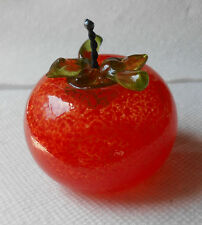 Signed Dew Art Glass Tomato Vegetable