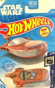 Hot Wheels 2021 Blue card HW Screen Time #012 STAR WARS X-34 LANDSPEEDER GRX16