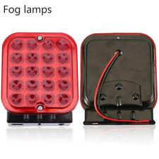 Car Van Truck Red LED Rear Fog Light Unit Auxiliary Lamp Bright Ring RCT495
