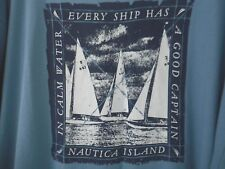 Nautica Mens 2XL In Calm Waters Every Ship Has A Good Captain T Shirt Casual