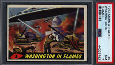 1962 Topps Mars Attacks #5 Washington In Flames PSA 7 *701911