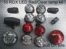 Rdx Led red/clear 10 Lámparas lado Repetidor numlmp Defensor 1998 a 2016 td5/tdci D