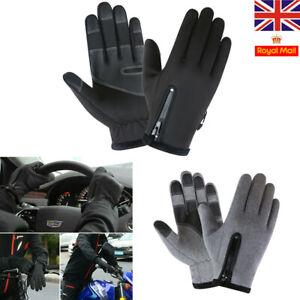 Mens Touchscreen Waterproof Gloves Thermal Warm Riding Anti-slip Windproof Women