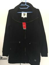 BNWT Lorna Jane Rozena C/Up LS Fleece Top Jumper Black Rrp$89.99 Sz S