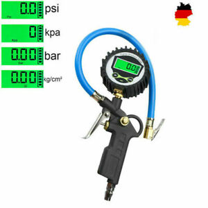 Digital Reifendruckmessgerät Auto geeicht Luftdruckprüfer Reifenfüller Manometer